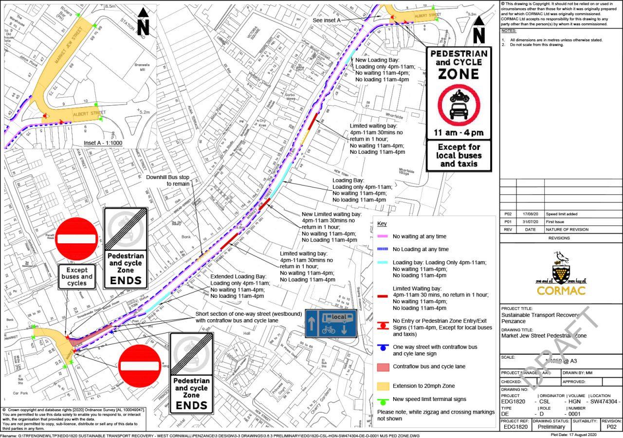 Plan for Market Jew Street