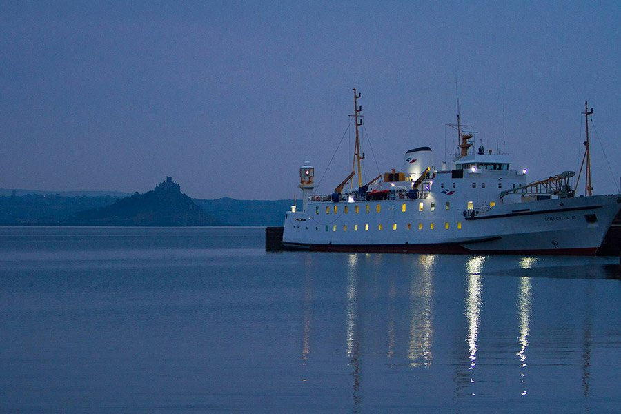 Scillonian docked at Penzance Pier